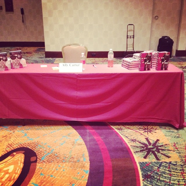 Huge career goal was to have my own table at the #RWALiteracy signing. I might cry right now.
